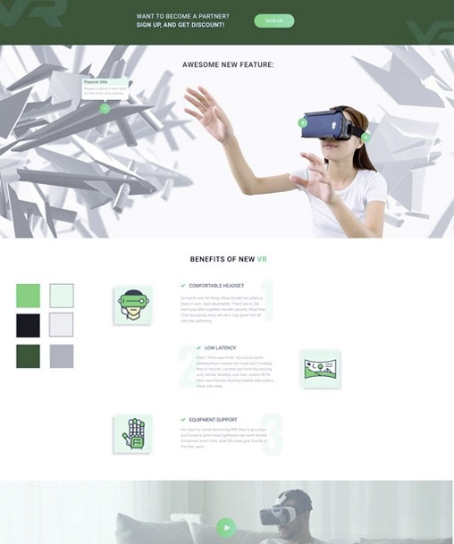 VR Startup - Bootstrap HTML Template