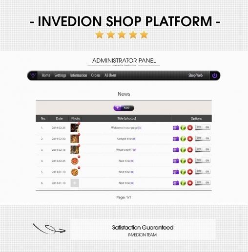 Invedion Shop Platform CMS