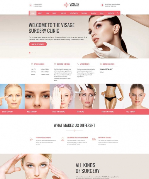 Visage - Clinic Website Template