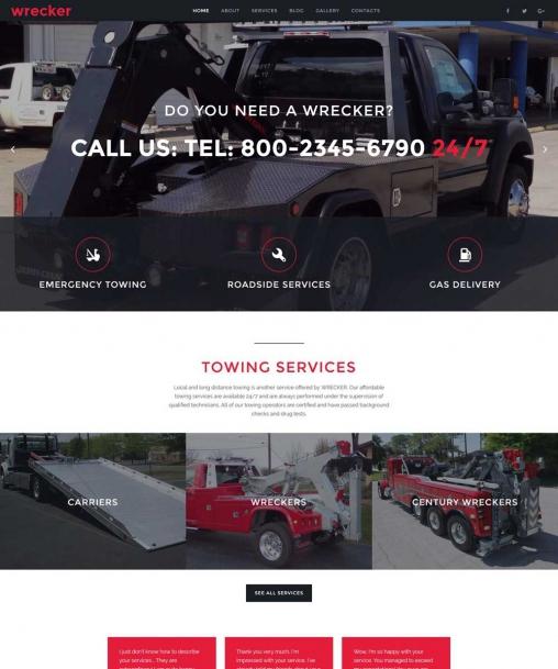 Wrecker   Website Template